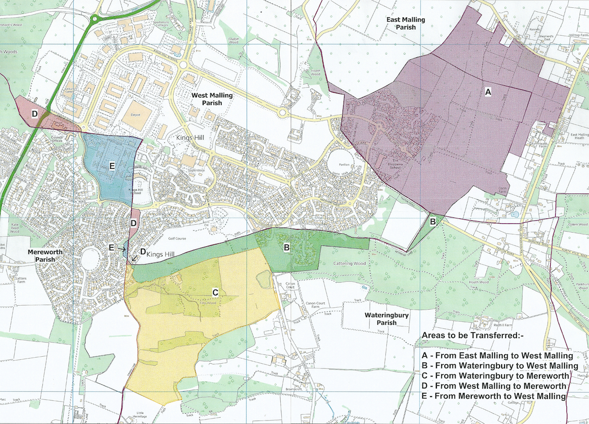 Parish boundary changes set direction for Kings Hill  St