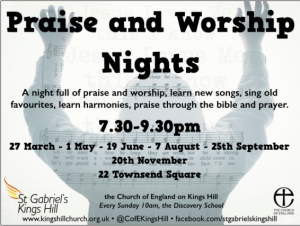 Praise and Worship Nights at the Filling Station @ Wrotham Cricket Club